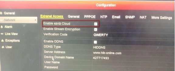 How to configure EZVIZ service on HIKVISON DVR | sassec